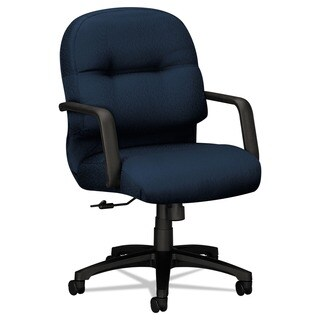 HON 2090 Pillow Soft Series Blue Mid Back Fabric Chair