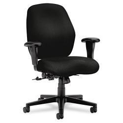 HON 7800 Series Black Mid-Back Task Chair