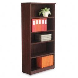 Alera Valencia Series 5-Shelf Dark Brown Bookcase
