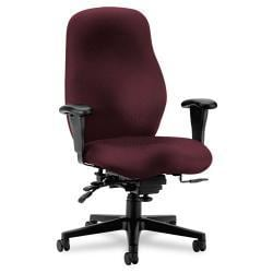 HON 7800 Series Burgundy High-Back Executive Task Chair