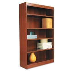 Alera Square Office Corner Bookcase with Finished Back