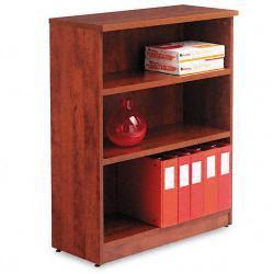 Alera Valencia Series 3-Shelf Light Brown Bookcase