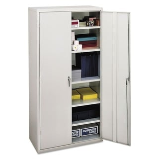 White HON Assembled 72-Inch High Storage Cabinet
