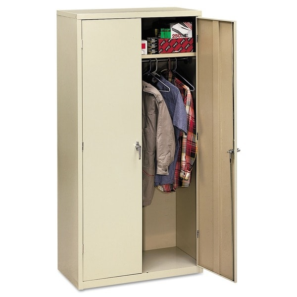 White HON Assembled 72-Inch High 18-Inch Deep Storage Cabinet with Reinforced Base