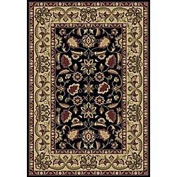 Anoosha Persian Garden Black Rug (5'3 x 7'7)