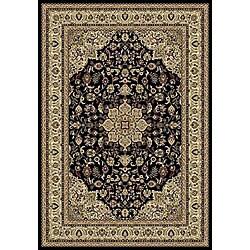 Anoosha Kashan Black Rug (5'3 x 7'7)