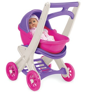 American Plastic Toys Doll Stroller, Buggy and Detachable Carrier