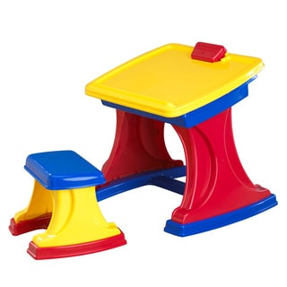 American Plastic Toys Functional Stylish Desk Flip Up Easel Play Set