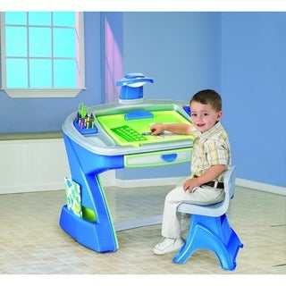 American Plastic Toys Stylish Desk Easel Play Set with Storage Area