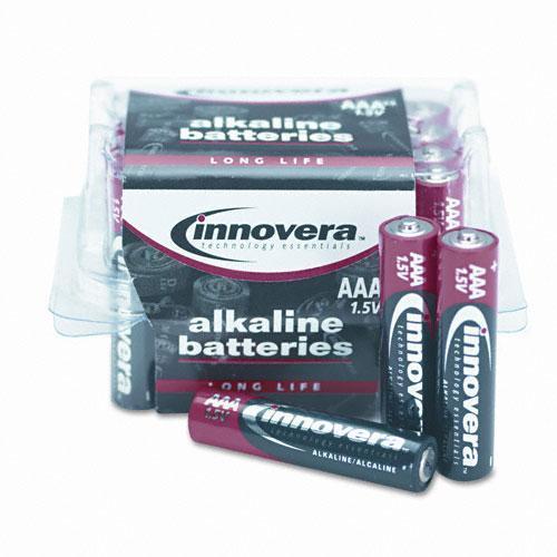 Innovera Alkaline AAA Batteries (Case of 24)