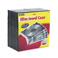 Fellowes Thin Jewel Cases, Clear (Pack of 100)