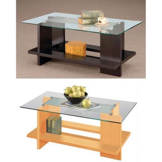 Furniture of America Book Storage Coffee Table