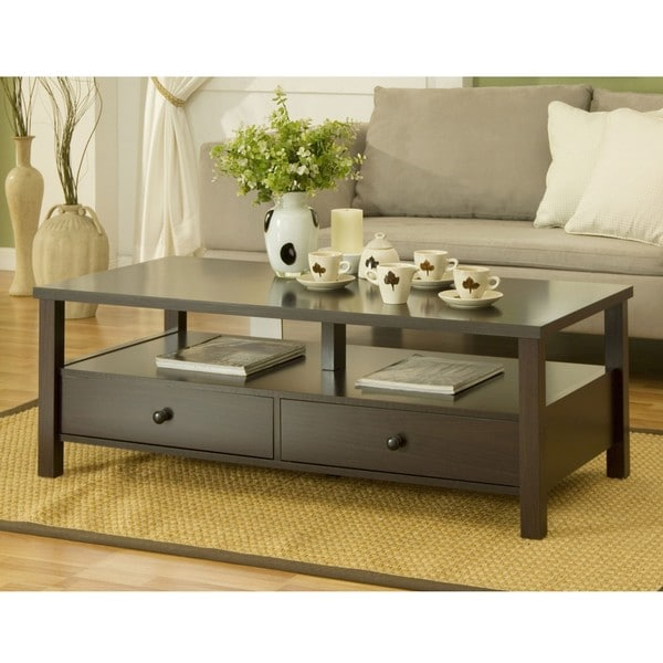 Furniture of America Cottage 2-drawer Coffee Table