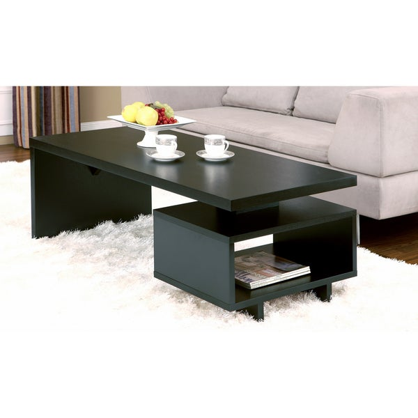Furniture Of America Open Cabinet Coffee Table Overstock Shopping Great Deals On Furniture
