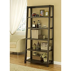 Furniture of America Coffee Bean 5-tier Step Bookcase