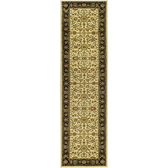 Safavieh Lyndhurst Collection Majestic Ivory/ Black Runner (2'3 x 8')