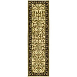 Lyndhurst Collection Majestic Ivory/ Black Runner (2'3 x 8')