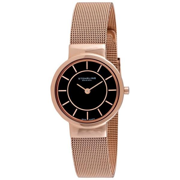 Stuhrling Original Women's Chantility Rosetone Swiss Quartz Watch