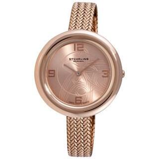 Stuhrling Original Women's Deauville Rosetone Swiss Quartz Watch