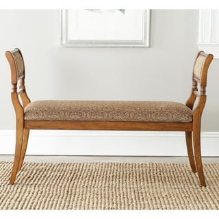 Safavieh Brody Walnut Finish French Bench