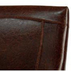 Safavieh Ken Bicast Leather Arm Chair Brown