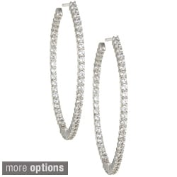 14k Gold 1 1/2 or 2ct TDW Diamond Inside-out Hoop Earrings (I-J, I2)