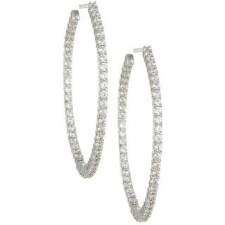 14k Gold 2ct TDW Diamond Inside-out Hoop Earrings (I-J, I2)