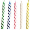 Transfer Items Birthday Candles Assorted Striped (Pack of 12)