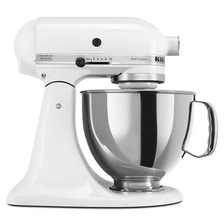 KitchenAid KSM150PSWH White 5-quart Artisan Stand Mixer *plus Overstock $30 gift card and $30 KitchenAid mail-in rebate
