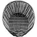 Tablecraft Black Oval Wicker Basket (Pack of 12)