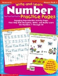 Write-And-Learn Number Practice Pages: Grades Prek-1 (Paperback)