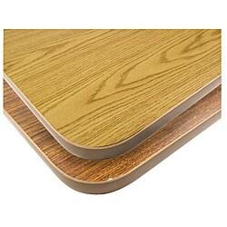 24x30-in Walnut/Oak Tabletop