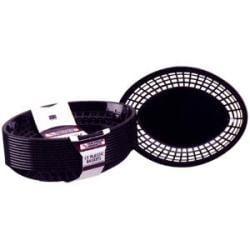 Tablecraft Medium Plastic Oval Baskets (Case of 36)