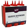 Tablecraft 12-oz Red Squeeze Bottles (Case of 72)