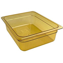 Cambro Half Size 4-in Deep  Amber High Heat Pan