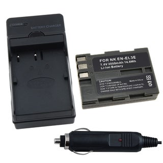 INSTEN Nikon EN-EL3E Battery and Charger for D200/ D700/ D90/ D300