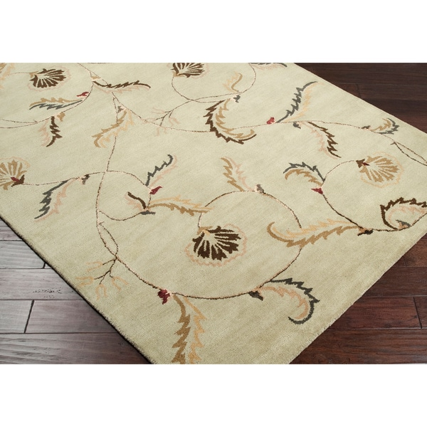 Hand-tufted Selenuim Green Wool Rug (8' x 11')