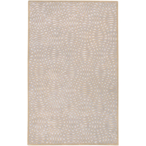 Hand-tufted Beige Contemporary Satori New Zealand Wool Abstract Rug