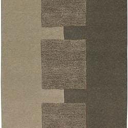 Hand-tufted Contemporary Brown Satori New Zealand Wool Abstract Rug (8' x 11')