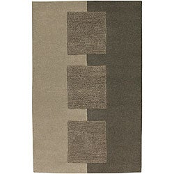 Hand-tufted Contemporary Beige Satori New Zealand Wool Abstract Rug (8' x 11')