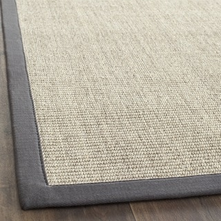 Safavieh Casual Natural Fiber Marble and Grey Border Sisal Runner (2'6 x 8')