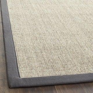 Hand-woven Serenity Marble/ Grey Sisal Runner (2'6 x 8')