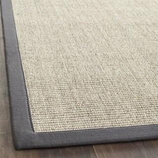 Indoor Hand-woven Serenity Marble/Grey Sisal Rug (4' x 6')