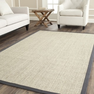 Safavieh Hand-woven Serenity Marble/ Grey Sisal Rug (6' x 9')