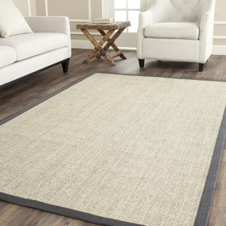 Safavieh Casual Natural Fiber Marble and Grey Border Sisal Rug (9' x 12')