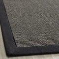 Safavieh Hand-woven Natural Fiber Serenity Charcoal Sisal Rug (3' x 5')