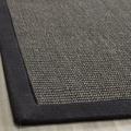 Hand-woven Natural Fiber Serenity Charcoal Sisal Rug (8' x 10')