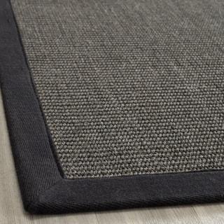 Hand-woven Natural Fiber Serenity Charcoal Sisal Rug (9' x 12')