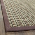 Hand-woven Stripes Multicolor/ Purple Fine Sisal Rug (6' x 9')