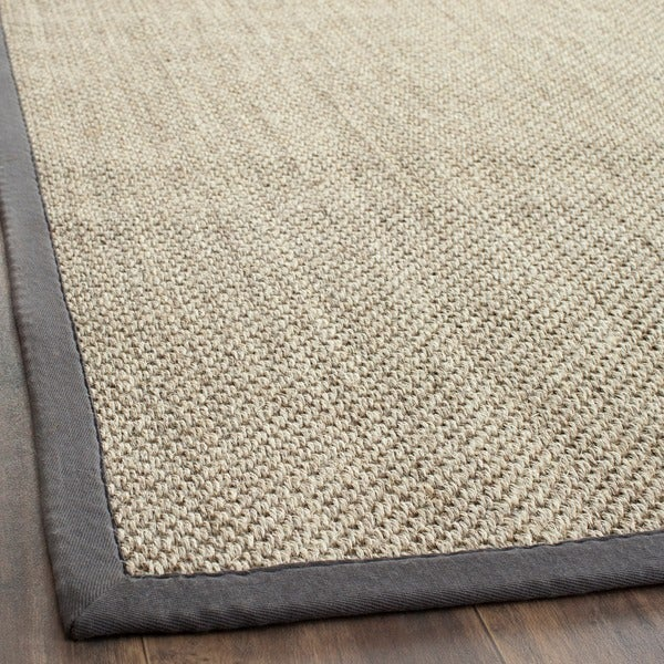 Safavieh Hand-woven Resorts Natural/ Grey Fine Sisal Runner (2'6 x 8')